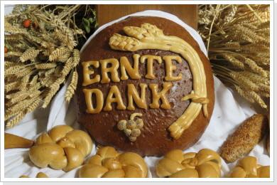 Zum Erntedank - 2018 - Backkunst - Brote - usw.