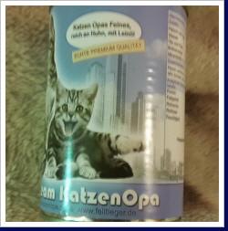 KatzenOpa Neues Futter Pemium Huhn mit Leiöl -2